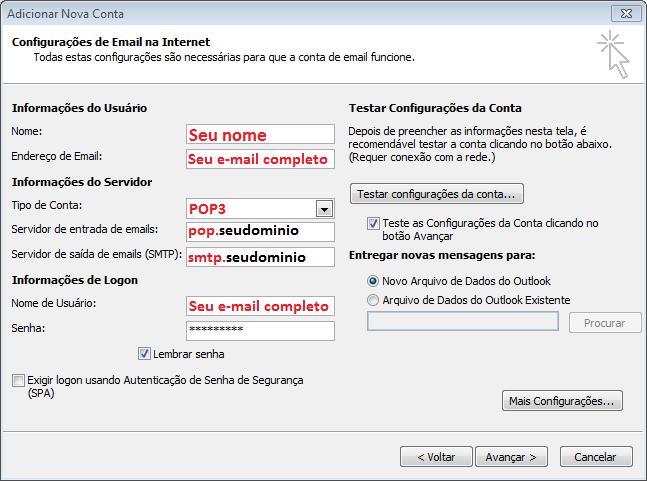 Outlook 2010 protocolo pop mav for Protocolo pop
